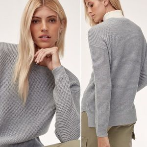 Wilfred Free Heather Grey Knit Isabelli Sweater